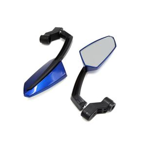 R/étroviseur de Moto Universel pour Moto argent Duokon 1 Paire 8mm 10mm R/étroviseurs Lat/éraux en Aluminium CNC
