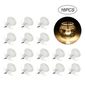 LAMPE DE JARDIN  16PCS 0.6W LED Lumière de plate-forme Paysage exté