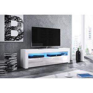 MEUBLE TV VIVALDI Meuble TV - MEX - 160 cm - blanc mat / bla