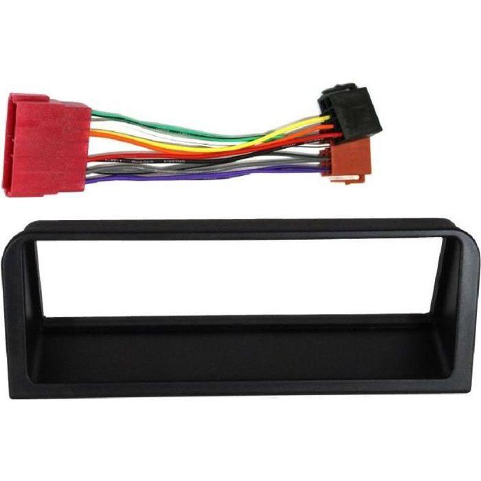 Kit Adaptateur Autoradio 1DIN noir Peugeot 106/ Citroen AX + ISO