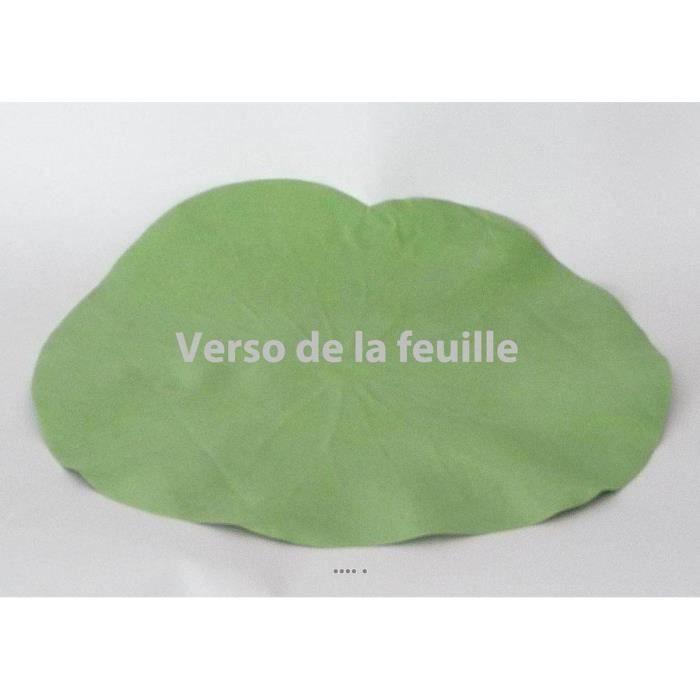 Lotus Nenuphar sous assiette Vert D 29 cm decoration