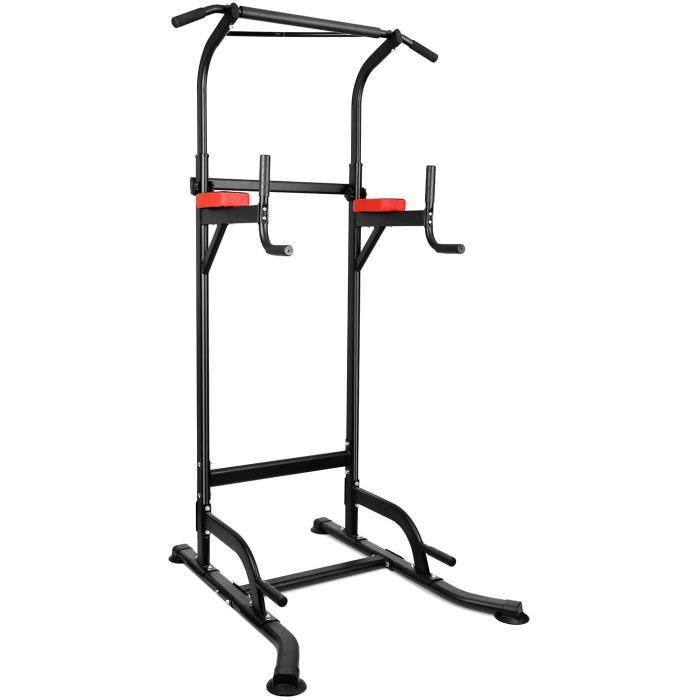 Chaise Romaine Power Tower, Tour de Musculation Multifonctions Barre de Traction, Entraîneur pour Abdominaux, Dos et Triceps, Pull-u