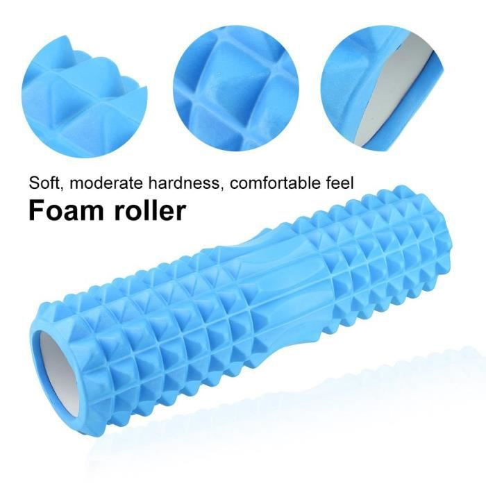 MEIHE Rouleau de mousse EVA Muscle Massager Foam Roller Hollow Fitness Fitness Yoga Exercice (bleu L)