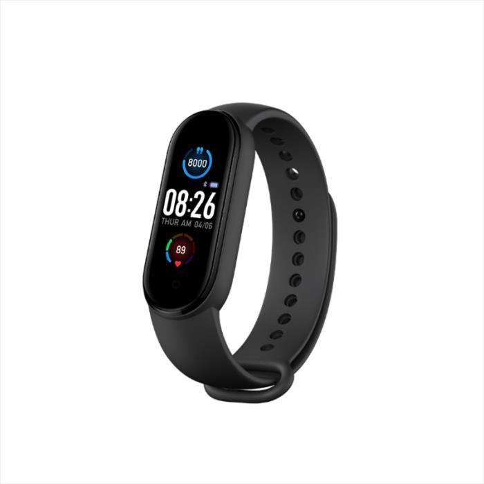 Montre connectée,M5 Sport Fitness Bracelet intelligent Bluetooth couleur écran montre intelligente moniteur fréquence cardiaque #A
