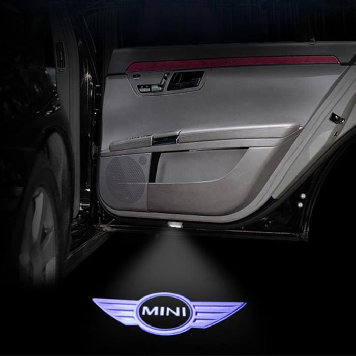2pcs SHDLIFE lumière de porte de voiture LED Logo Welcome Light pour BMW Mini Cooper One S R55 R57 R58 R59 R60 Clubman Countryman