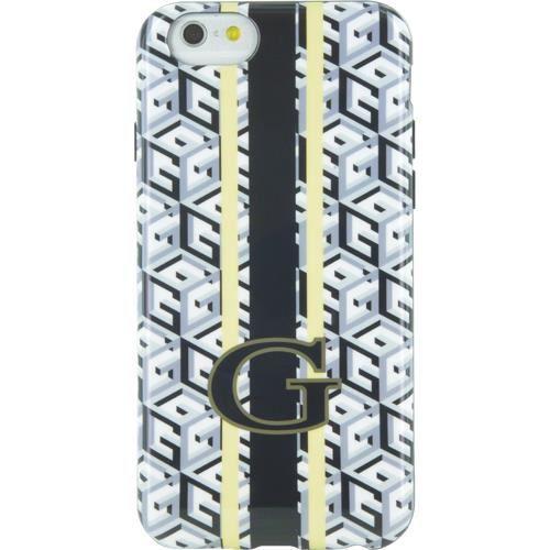 GUESS Coque semi-rigide imprimé cubique - Pour iPhone 6 / 6S - Noir et Blanc