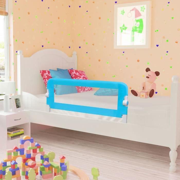 Barrières de lit pour bébés Barrières sécurité pour bébés enfant pour enfants 102 x 42 cm Bleu