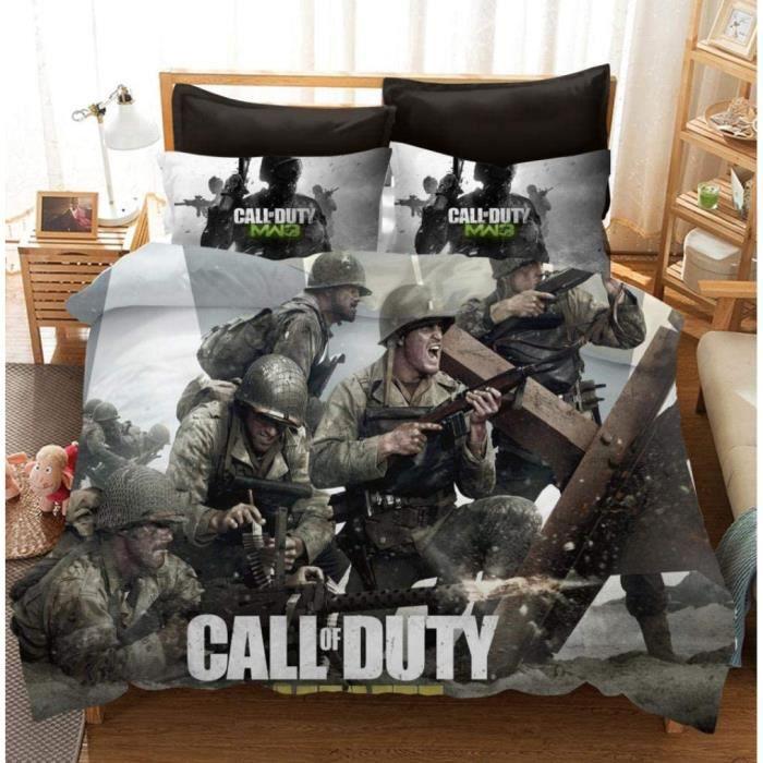 Call of Duty Housse de Couette avec Taie d'oreiller Parure de LitDouce et agréable Confort de Sommeil 135x200CM[2023]