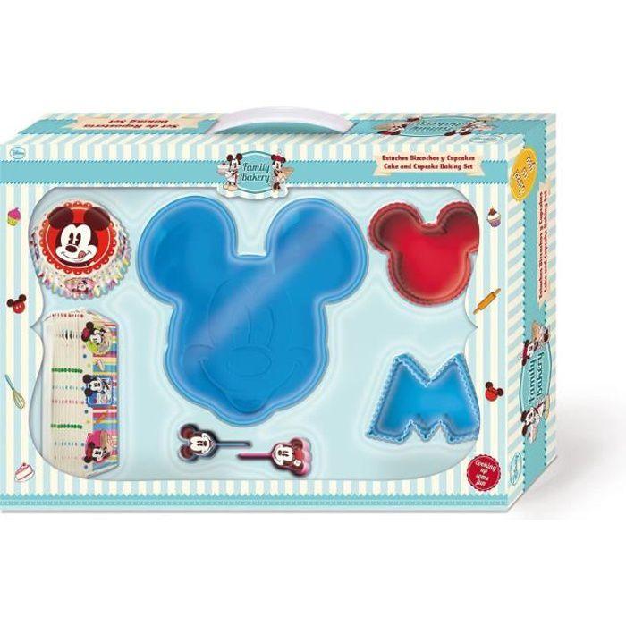 Kit Patisserie Disney Mickey Moule silicone Gateau forme Mickey + Caissettes Cupcakes Coffret Cadeau