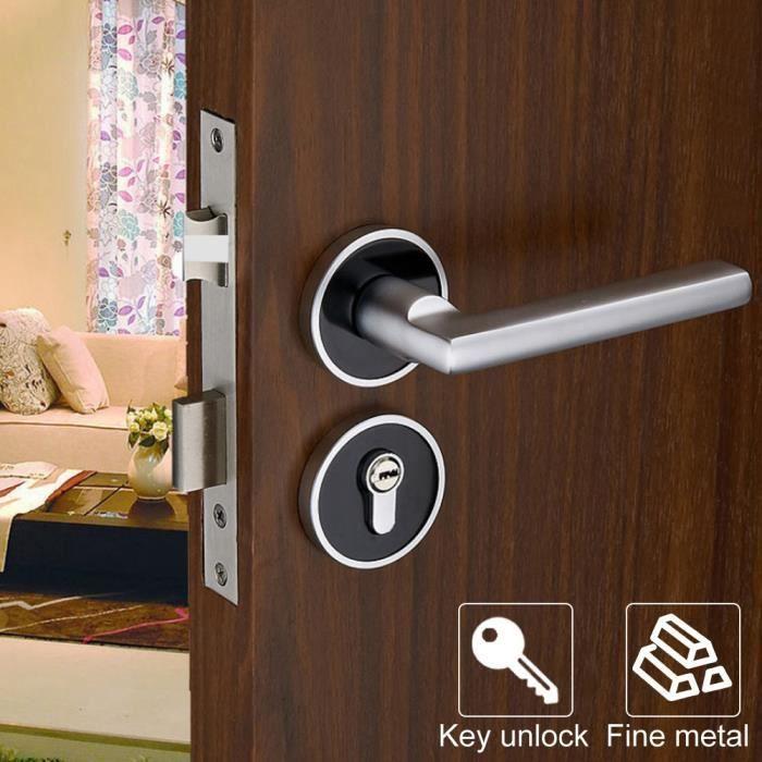 Serrure de porte de grange, serrure de porte durable, style européen pour portes en bois Portes de salle de bain Portes de chambre