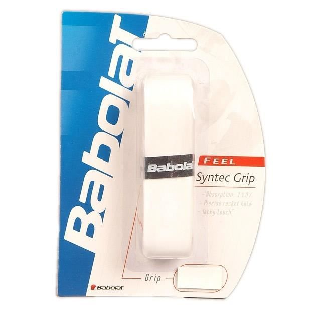 Grip raquette de tennis Synthec pro grip blanc