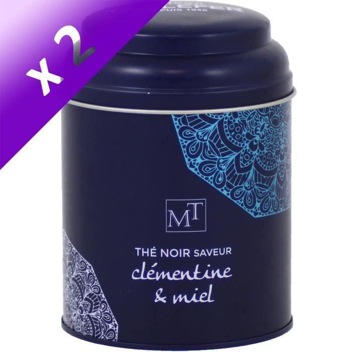 [LOT DE 2] MAISON TAILLEFER Thé Noir Clémentine Miel Boite Métal 100g