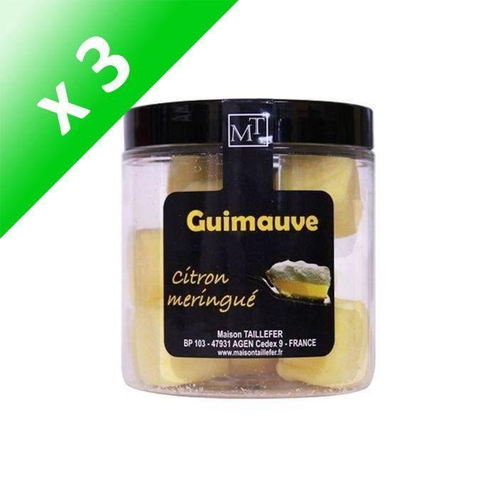 [LOT DE 3] MAISON TAILLEFER Guimauve Citron Meringué Pot 75g