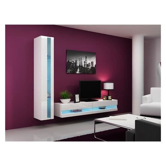 Ensemble Meuble tv design OLERIA blanc
