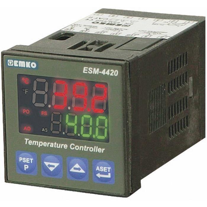 Emko ESM-4420 PID Régulateur de température J, K, R, S, T, Pt100Relais 5 A (L x l x h) 84 x 48 x 48 mm