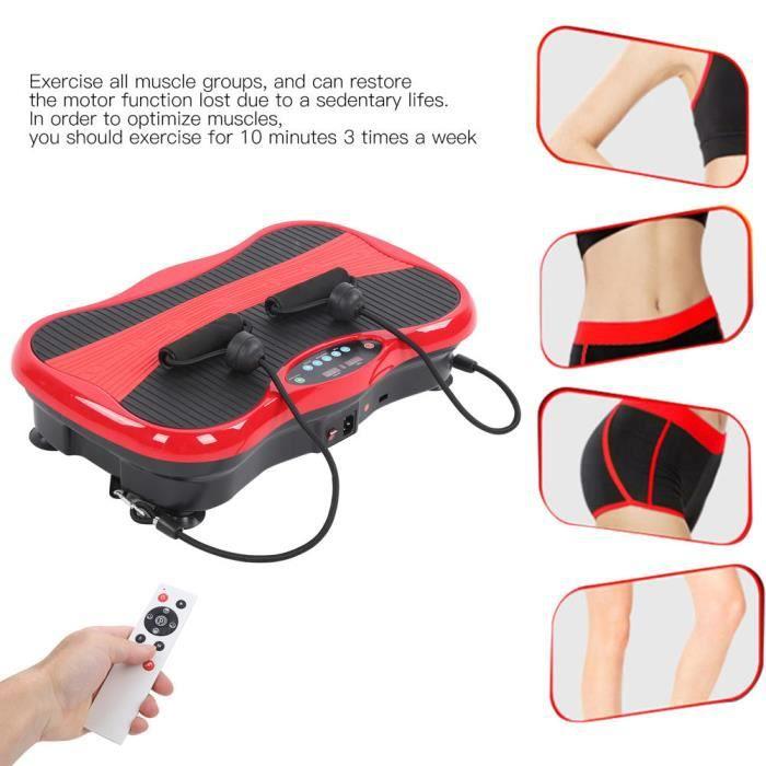 Plaque vibrante Masseur de Fitness Machine de Forme de Corps à Vibration Plateforme Vibrante d'Exercice Ultra-Mince(Prise UK HB018