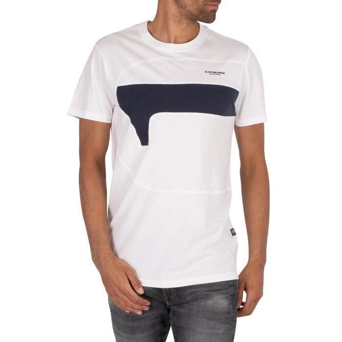 G-Star Pour des hommes T-shirt une coupe et cousu, blanc