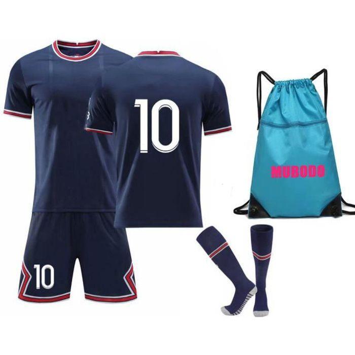 21-22 saison Maillots de Football T-Shirt avec Chaussettes et Accessoires Chemise de Football Ensemble pour adulte Enfants - Bleu