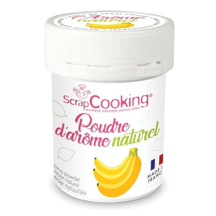 Arôme alimentaire naturel en poudre Banane - Scrapcooking {couleur}