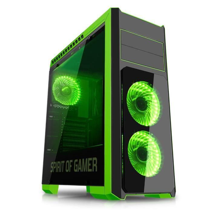 SPIRIT OF GAMER Boîtier PC Gamer Rogue III - Vert