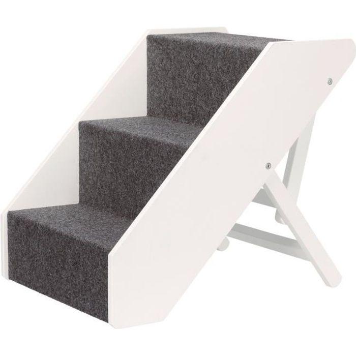 TRIXIE Escalier - 40 x 67 cm - Réglable en hauteur - Blanc - Pour chien