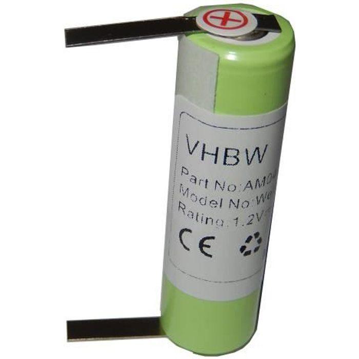 Batterie de secours pour tondeuse à cheveux Wella Contura HS40 - Remplace : KR800 AAE, 1HR-AAC - Dimensions : 49mm x 14.5mm - Tec…