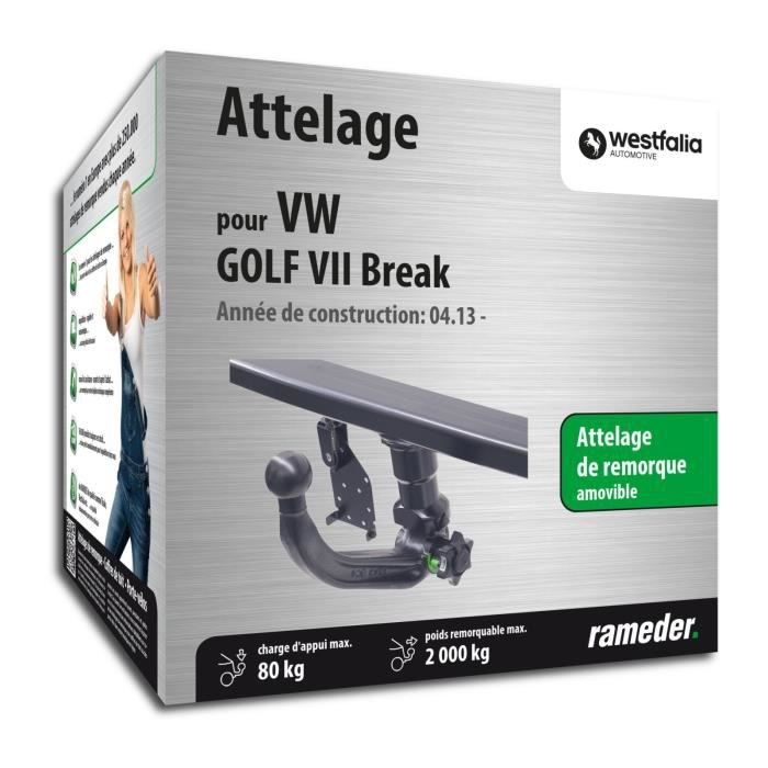 Attelage Westfalia Amovible VW GOLF VII Break date de fabrication 04.13