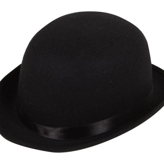 Chapeau Melon Feutre Noir Accessoire Déguisement Adulte