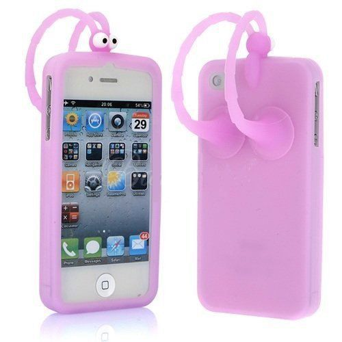 coque silicone iphone 4 4s bonhomme ventouses achat. Black Bedroom Furniture Sets. Home Design Ideas