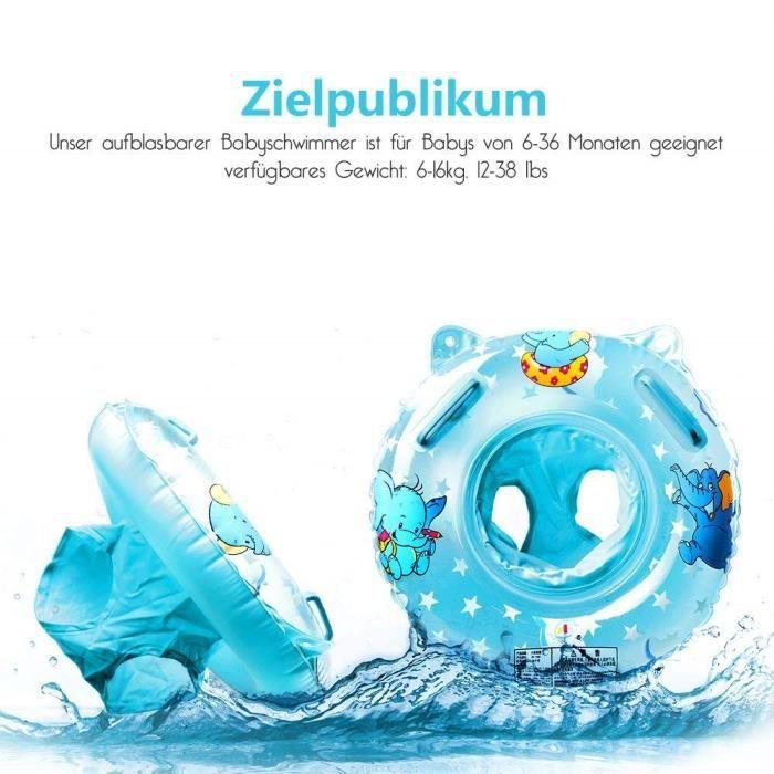 Gonflable b/éb/é Natation Cou Anneau b/éb/é n/é Cou Cercle Natation Natation B/éb/é Anneau Float Ball Pool Accessoires 1pc Bleu L
