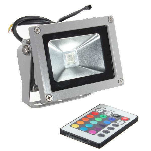Neufu 10w led rgb lampe spot projecteur multi couleur for Ampoule led exterieur