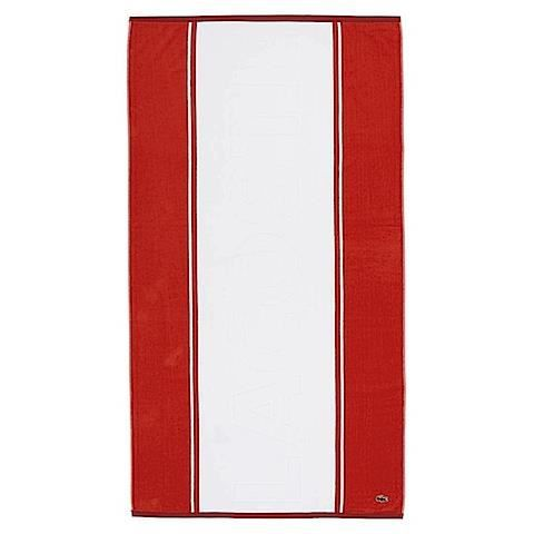 drap de plage lacoste mod le winch rouge achat vente serviette de plage cdiscount. Black Bedroom Furniture Sets. Home Design Ideas