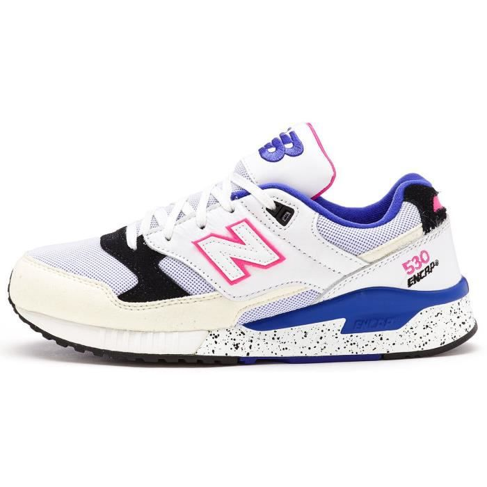 41c440a0cc53 Baskets New Balance 530 Encap Chaussures en Blanc Bleu - Rose M530 ...