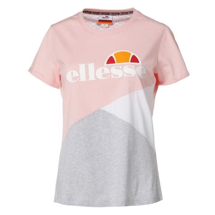 T Rose Femme Ee2ih9ybwd Courtes Rosegris Manches Shirt Ellesse WdBCxero