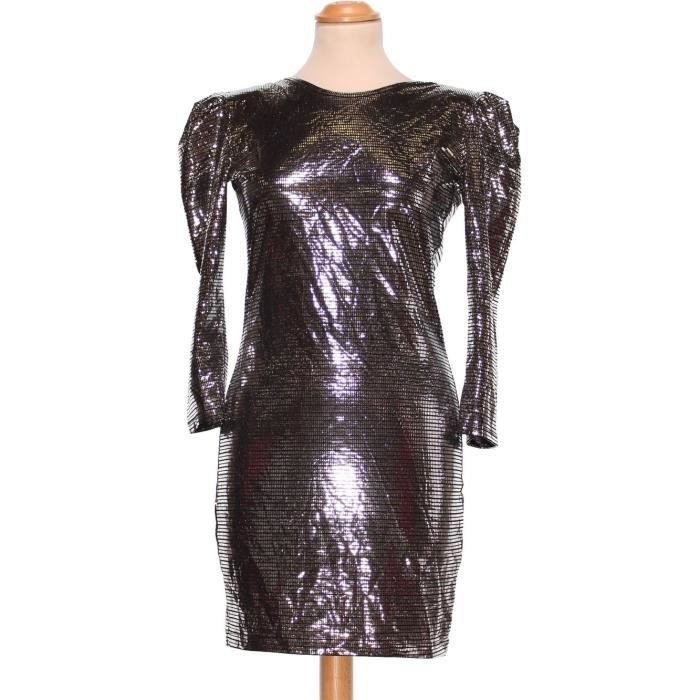 Robe De Soiree Asos Taille 40 1945105 Gris Achat Vente Robe Cdiscount