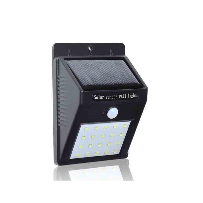 LOT de 2 Lampe Solaire 20 LED Eclairage Exterieur étanche Détecteur Mouvement FR