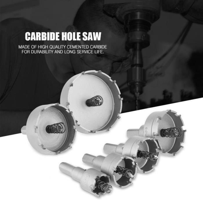 Foret Pour Carbure Metal Trou Scie-Cloche En Alliage 50mm Outil De Coupe
