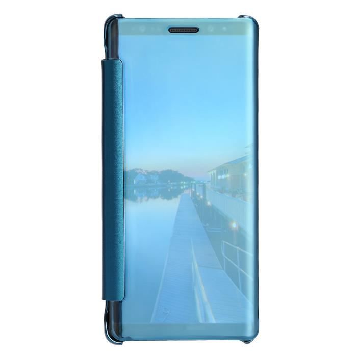 Pour Samsung Galaxy Note 8 Clear View Mirror Leather Flip Stand Case Covercoque HM10042
