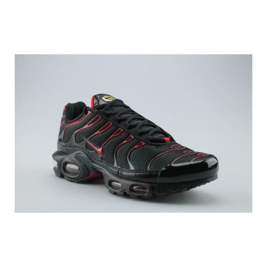 Nike Air Max Plus Tn Noir Noir/Rouge - Cdiscount Chaussures