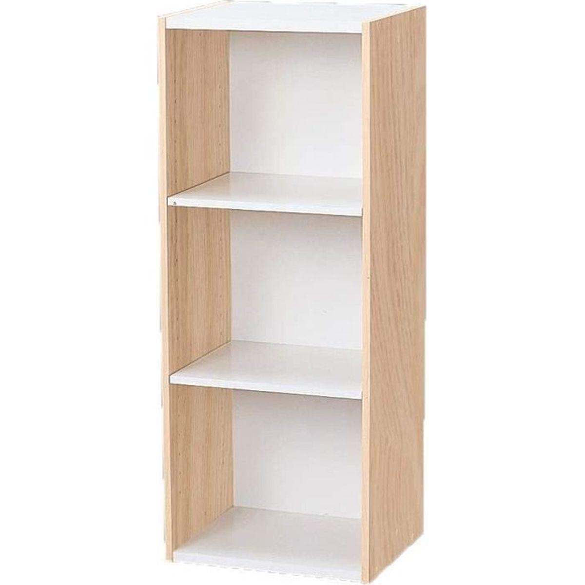 Yosoo Biblioth/èque de rangement en bois Jardin 6 Gilles, Blanche /étag/ères de rangement de livres pour Salon