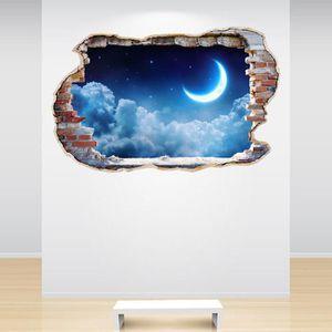 d/écoration bricolage pour chambres gar/çons filles chambres denfants nuages lune et /étoiles autocollants pour chambres denfants Stickers muraux Stickers muraux ensemble dautocollants muraux