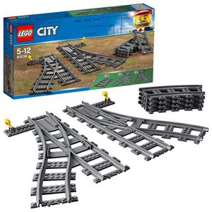 ASSEMBLAGE CONSTRUCTION LEGO City - Les aiguillages - 60238  - Jeu de Cons