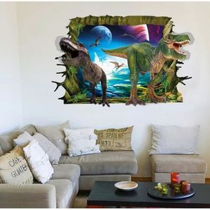 STICKERS Jurassic Park 3D Stéréo Autocollants Dinosaure mur