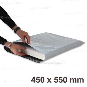 ETUI POSTAL Lot de 10 Enveloppes plastiques blanches opaques F