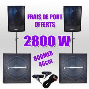 PACK SONO Pack 181810 Sonorisation 2800W Caisson bi-amplifié