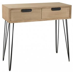 console meuble 80cm achat vente console meuble 80cm pas cher cdiscount. Black Bedroom Furniture Sets. Home Design Ideas