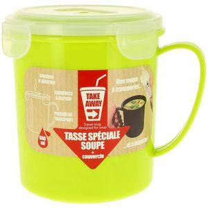 Sistema Klip It Micro-ondes moyennes Soupe Tasse pour aller déjeuner Take Away Cup-Violet