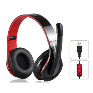ovleng q8 casque audio st r o usb pour pc noir casque. Black Bedroom Furniture Sets. Home Design Ideas