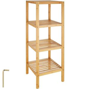 etagere salle de bain en bois achat vente etagere. Black Bedroom Furniture Sets. Home Design Ideas