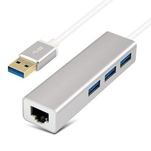 HUB VSHOP®  Hub USB 3 Ethernet 3 Port USB 3.0 avec ada